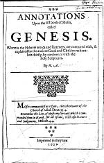Annotations Upon the First Book of Moses, Called Genesis ...