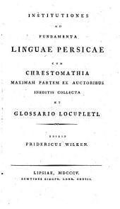 Institutiones ad fundamenta linguae persicae cum crestomathia