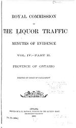 Report, with Minutes of Evidence, of the Royal Commission on the Liquor Traffic in Canada