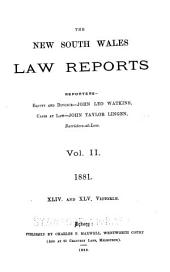 The New South Wales Law Reports, 1880-1900: Volume 2