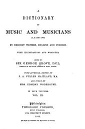 Dictionary of Music and Musicians: (A.D. 1450-1889)