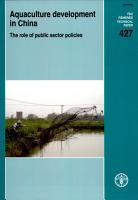 Aquaculture Development in China PDF
