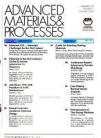 Advanced Materials   Processes PDF