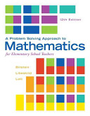 A Problem Solving Approach to Mathematics for Elementary School Teachers PDF