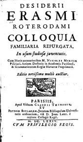 Colloquia familiaria repurgata, in usum ... juventutis