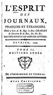 L'Esprit des journaux franc̜ais et étrangers: Volume60
