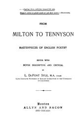 From Milton to Tennyson: Masterpieces of English Poetry
