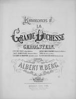 Reminiscences of La Grande Duchesse de Gerolstein PDF