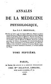 Annales de la me(decine physiologique: Volume 7