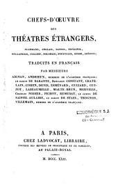 Chefs-d'oeuvre du théâtre espagnol: Caldéron, Volume1