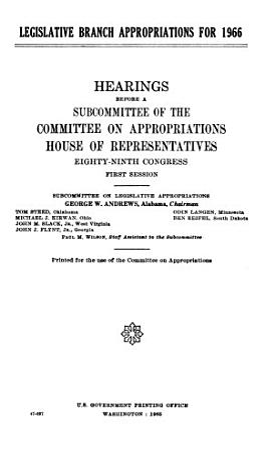 Legislative Branch Appropriations for 1966 PDF