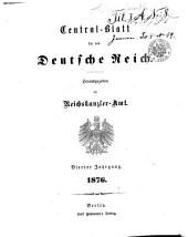 Zentral-blatt fèur das Deutsche Reich: Band 4
