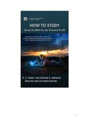 HOW TO STUDY: Study the Bible for the Greatest Profit [Second Edition]