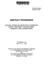 Abstract proceedings: Second Forum on Innovative Hazardous Waste Treatment Technologies, Domestic and International : Philadelphia, PA, May 15-17, 1990
