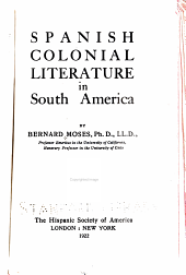 Spanish Colonial Literature in South America