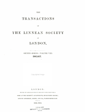 Transactions of the Linnean Society of London: Zoology. 2nd ser, Volume 8