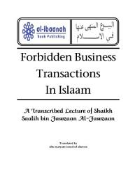 Forbidden Business Transactions in Islaam