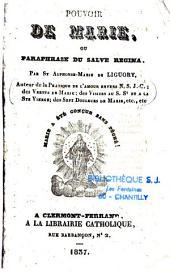 Pouvoir de Marie ou paraphrase du Salve Regina