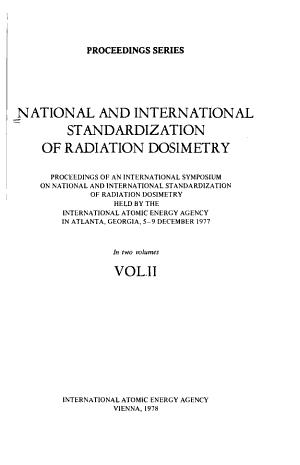 National and International Standardization of Radiation Dosimetry PDF
