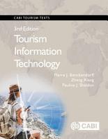 Tourism Information Technology  3rd Edition PDF