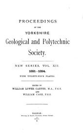 Proceedings of the Yorkshire Geological Society: Volume 12