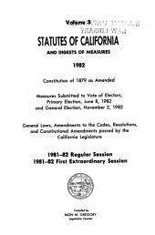 Statutes of California: Volume 3