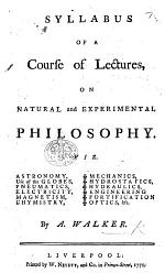 Syllabus of a course of lectures on Natural and Experimental Philosophy, etc