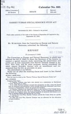 Harriet Tubman Special Resource Study Act PDF