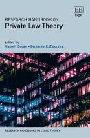 Research Handbook on Private Law Theory PDF