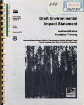 Chequamegon-Nicolet National Forest (N.F.), Lakewood/Laona Plantation Thinning: Environmental Impact Statement