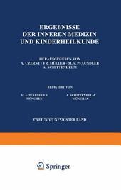 Ergebnisse der Inneren Medizin und Kinderheilkunde: Zweiundfünfzigster Band
