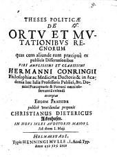 Theses politicae De ortu et mutationibus regnorum