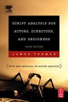 Script Analysis for Actors  Directors  and Designers PDF