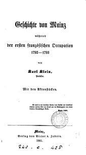 Geschichte von Mainz während der ersten französischen Occupation, 1792-1793