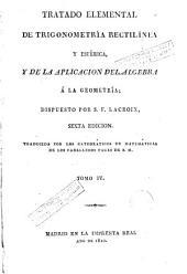 Tratado elemental de trigonometría rectilínea y esférica y de la aplicación del álgebra a la geometría, 4