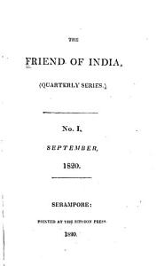 The Friend of India Book