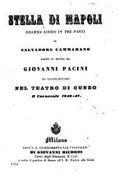 Stella di Napoli: dramma lirico in tre parti : da rappresentarsi nel Teatro di Cuneo il carnevale 1846 - 47