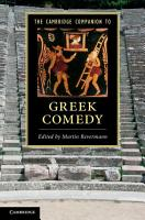 The Cambridge Companion to Greek Comedy PDF