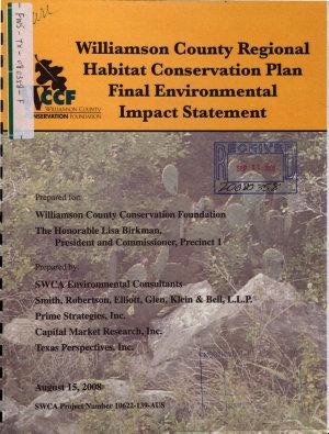Williamson County Regional Habitat Conservation Plan