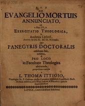 De evangelio mortuis annunciato: ad I. Petr. IV, 6. exercitatio theologica