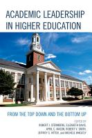 Academic Leadership in Higher Education PDF