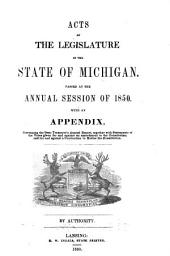 Acts of the Legislature of the State of Michigan: Volume 1