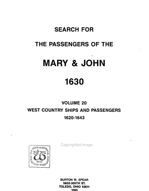 Search for the Passengers of the Mary   John  1630  West country ships and passengers  1620 1643