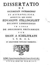 Dissertatio de auctoritate patriarchali
