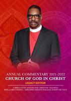 Church Of God In Christ Annual Lesson Commentary 2021 2022  KJV AMP  PDF