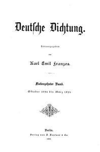 Deutsche Dichtung PDF