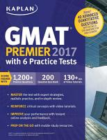 GMAT Premier 2017 with 6 Practice Tests PDF