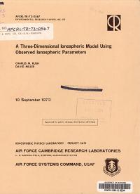 A Three dimensional Ionospheric Model Using Observed Ionospheric Parameters