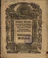 Ettlich Weyssagung durch den hochgelerten Astronomum Jacob Plawmen zu Vlm zusamen getragen, Anno M.CCCCC.