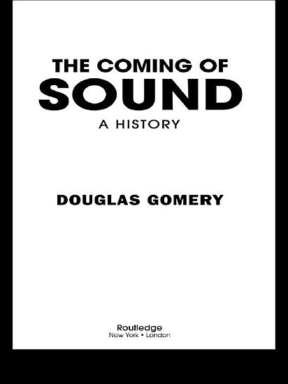 The Coming of Sound PDF